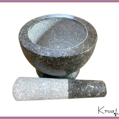 石臼 石棒付き MSサイズ タイ職人手製 クロックヒン